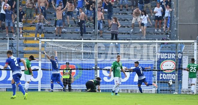Il gol vittoria del Como