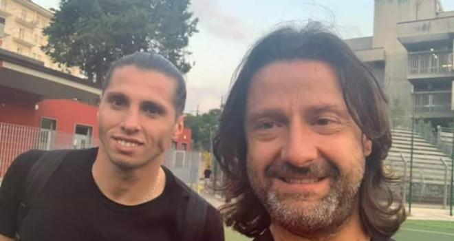 Vuletich con il presidente Caiata
