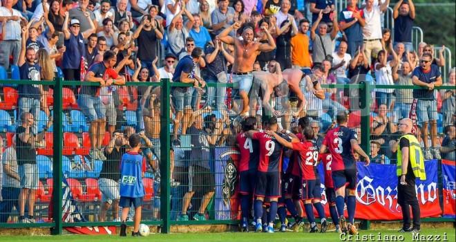 Festa al gol di Emiliano