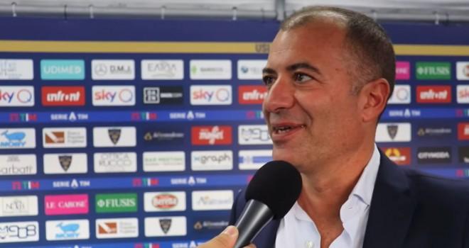 """Lecce. Sticchi Damiani: """"Risultato figlio dell'entusiasmo"""""""