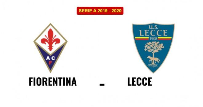 Fiorentina-Lecce formazioni ufficiali
