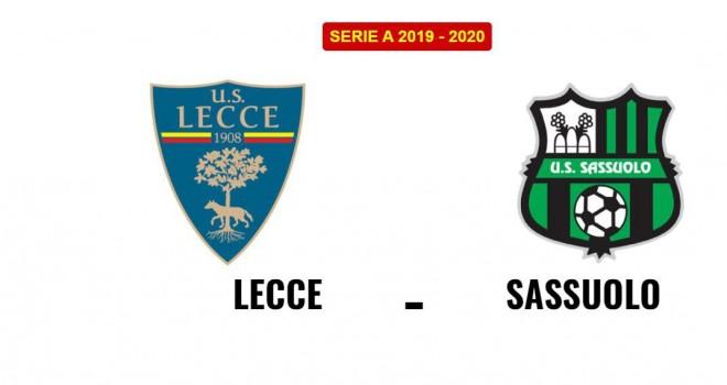 Lecce Sassuolo formazioni ufficiali