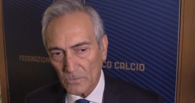 Il Pres. G. Gravina, FIGC