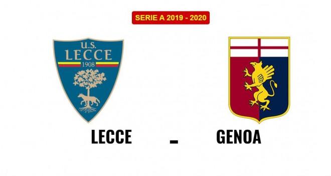 Lecce-Genoa formazioni ufficiali