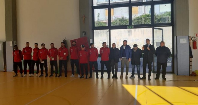 Paternò, la squadra in visita al I Circolo didattico