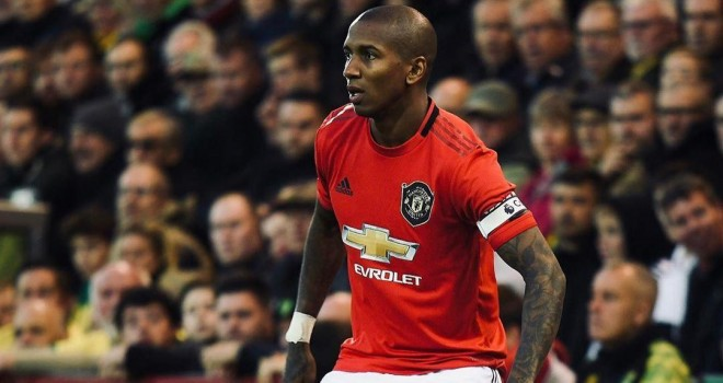 Ashley Young in maglia United