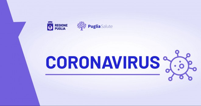 Coronavirus - Puglia: 9 nuovi casi e 5 morti. Bollettino 4 maggio
