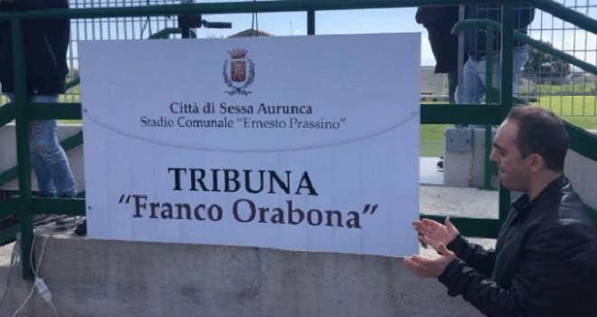 La tribuna intitolata a Franco Orabona