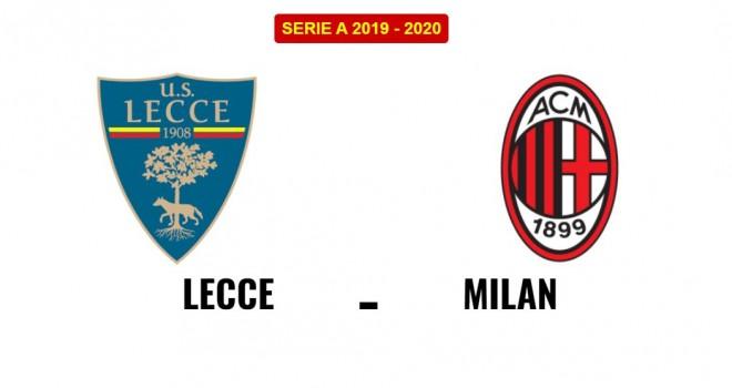 Lecce-Milan, formazioni ufficiali