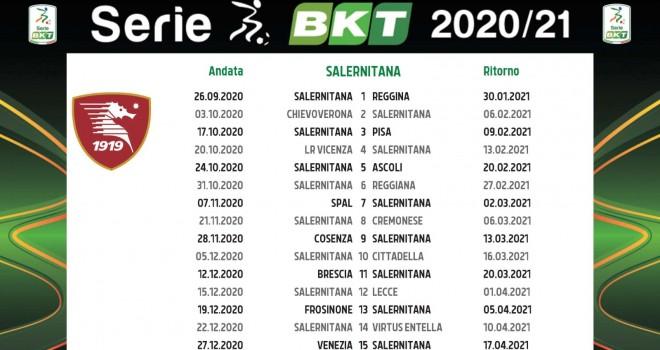 Salernitana: il calendario completo della stagione 2020 2021   I