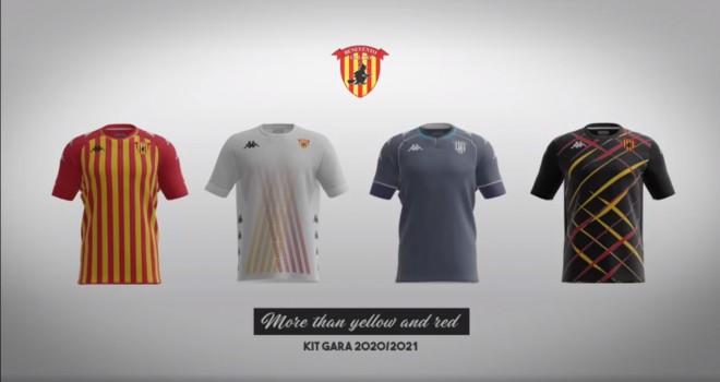 Le quattro maglie del Benevento 2020/21