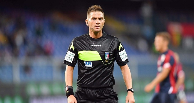 L'arbitro Fabrizio Pasqua