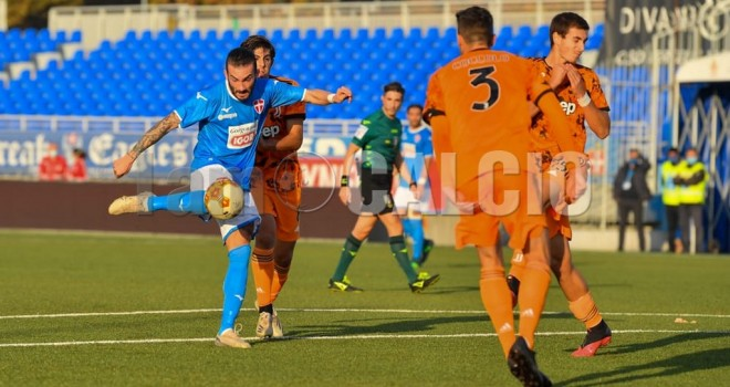 Il gol del Novara a firma Lanini