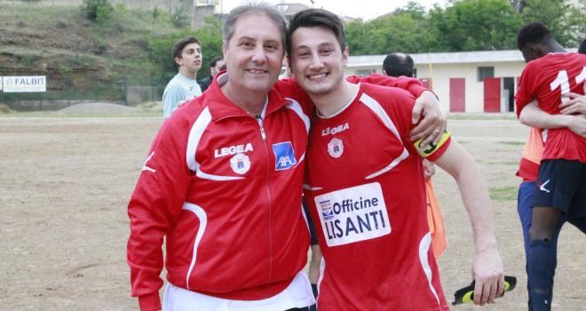 Eugenio Dametti con il figlio Fausto