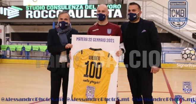 """CMB Matera, Weber festeggia le 100 presenze con gol: """"Bellissimo così"""""""