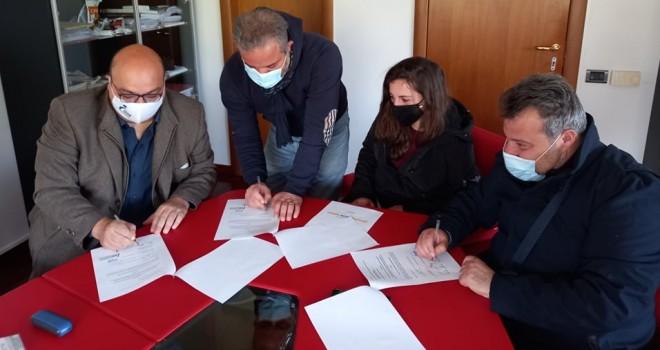 Il protocollo d'intesa firmato stamani