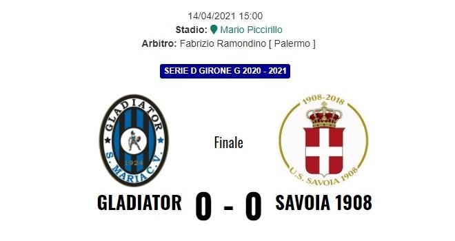 Gladiator-Savoia 0-0