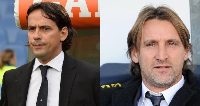 S. Inzaghi (Lazio) e D. Nicola (Torino)