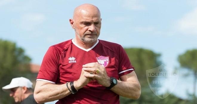 L'allenatore del Tolentino Mosconi
