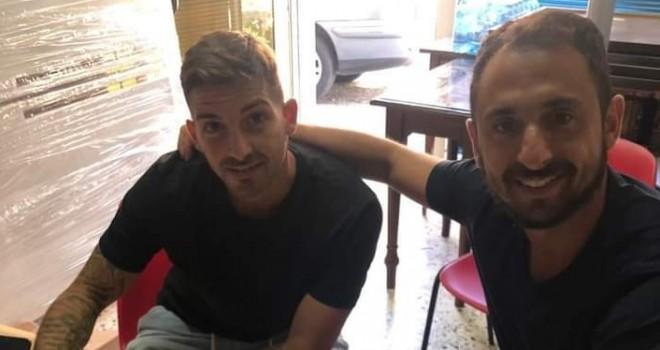 Melillo con l'agente Matteo Coscia