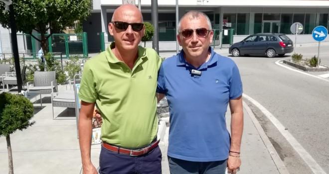 Prete con il presidente Friguglietti