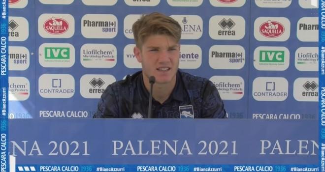 """Pescara, Pompetti: """"Felici per la prestazione. Puntiamo a fare bene"""""""