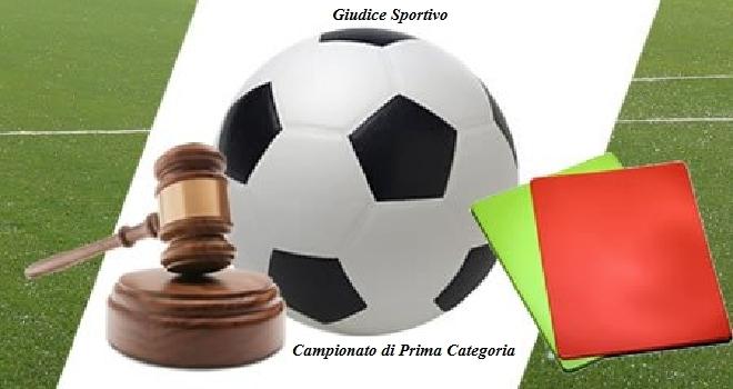Giudice sportivo: ammende e squalifiche dall'Eccellenza alla Seconda