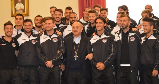 Il Foggia fa visita all'Arcivescovo  Mons.Tamburrino