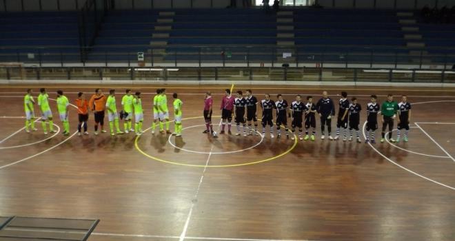 Le squadre prima del calcio d'inizio