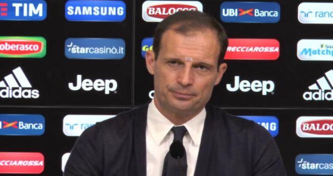 """Juve, Allegri: """"Napoli? Non firmo per il pari, perchè una vittoria..."""""""